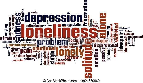 Loneliness word cloud - csp24560960