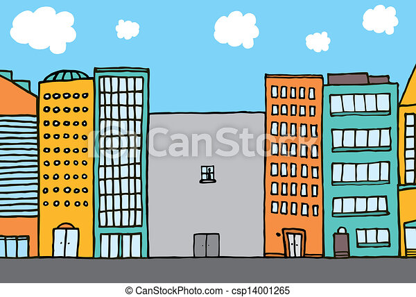 Lonely building in the city - csp14001265