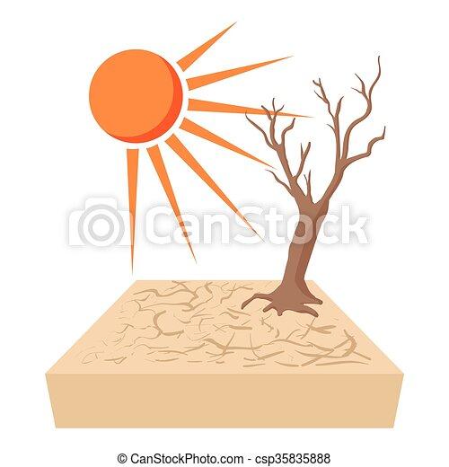 Lonely dead tree  - csp35835888