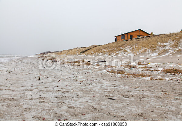 Lonely house at the sea shore - csp31063058