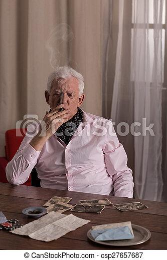 Lonely senior man - csp27657687