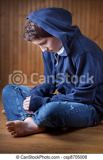 Lonely Teenager - csp8705008