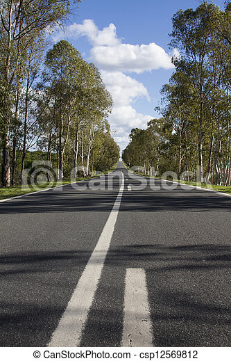 long asphalt road - csp12569812