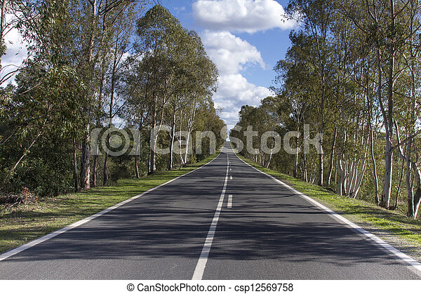 long asphalt road - csp12569758