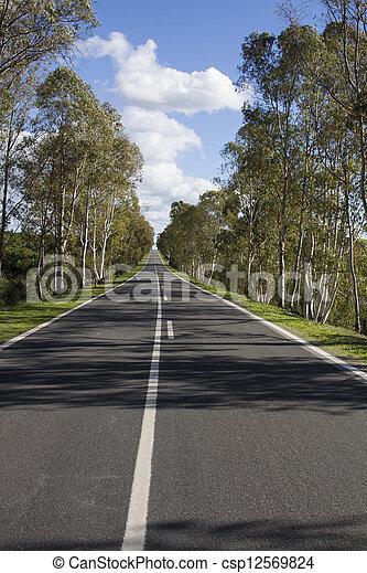long asphalt road - csp12569824