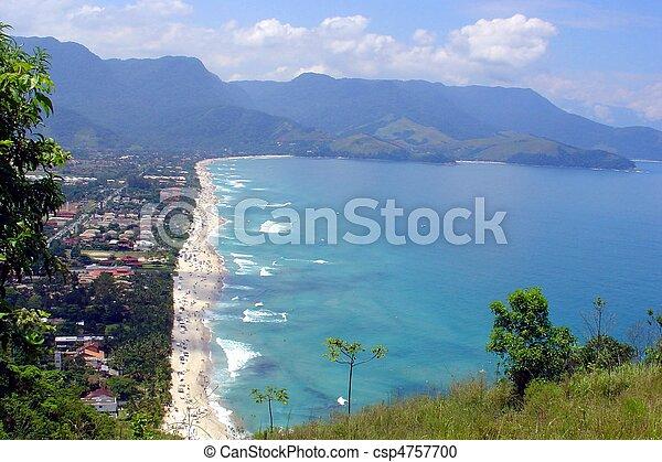 Long beach panoramic view - csp4757700