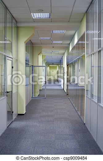 long, bureau, couloir - csp9009484