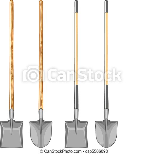 Long Handle Shovel and Spade - csp5586098