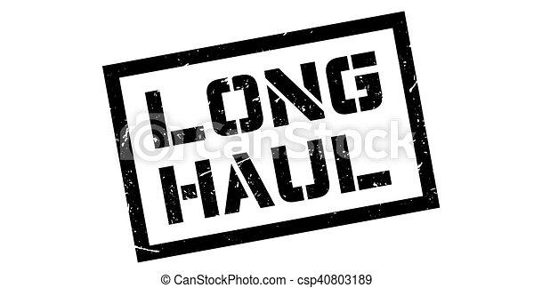 Long Haul Rubber Stamp On White Print Impress Overprint