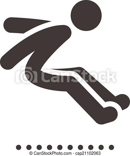 long jump icon - csp21102063