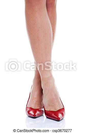 Long legs and red high heels - csp3670277