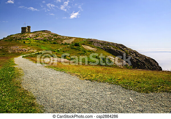 Long path to Cabot Tower on Signal Hill - csp2884286