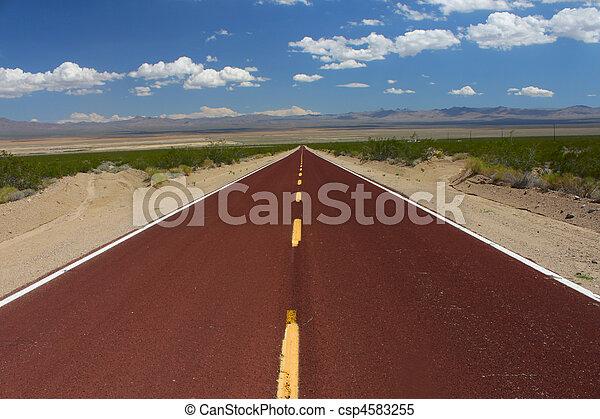 Long Road Through the Mojave Desert - csp4583255