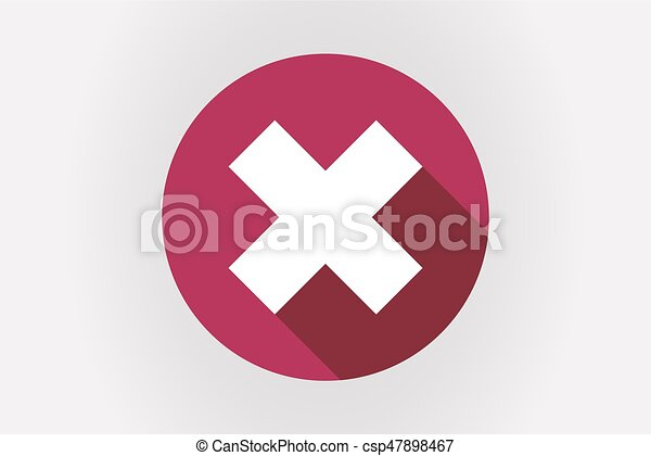 Illustration Of A Long Shadow Japan Flag With An X Sign Clip Art