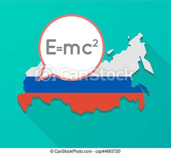 Long shadow russia map with the theory of relativity vector long shadow russia map with the theory of relativity formula csp44663720 altavistaventures