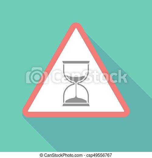 Long shadow warning signal with a sand clock - csp49556767