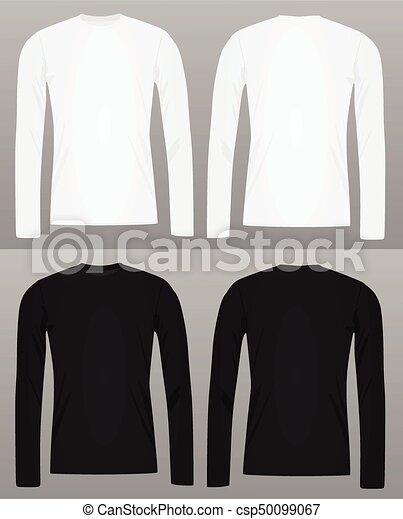 long sleeve t shirt template. Black Bedroom Furniture Sets. Home Design Ideas