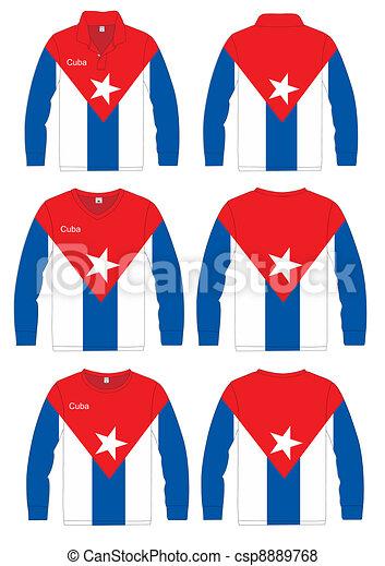 Long-sleeved sport shirt. Cuba - csp8889768