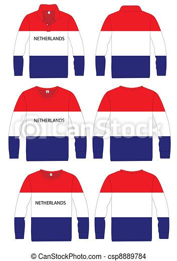 Long-sleeved sport shirt netherland - csp8889784