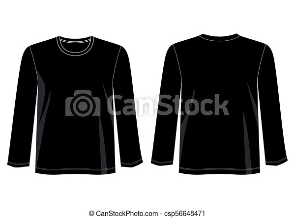 long sleeve eps design vector t shirt template collection for t