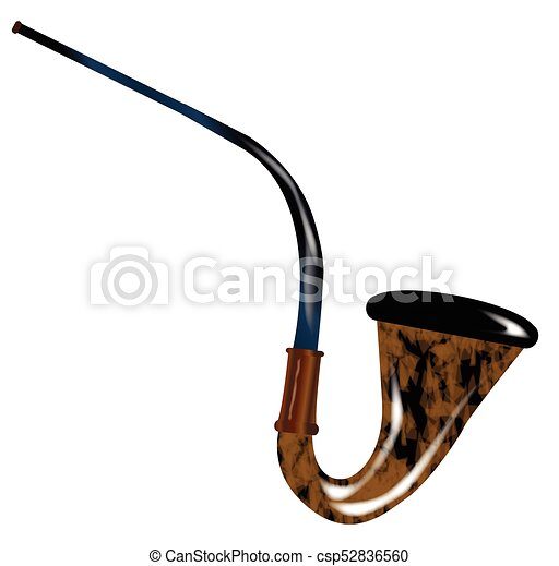 long stem pipe a trypical old fashioned pipe in isolateion clip rh canstockphoto com