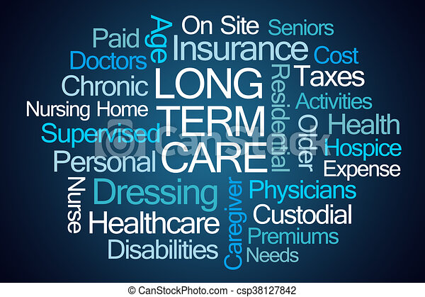Long Term Care Word Cloud - csp38127842
