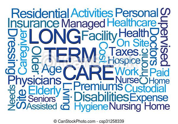 Long Term Care Word Cloud - csp31258339