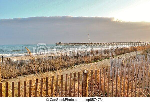 Long walk to the pier - csp8574734