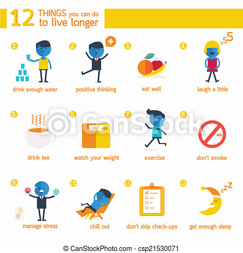 longer., 12, cosas, vivo, infographic, lata, usted - csp21530071