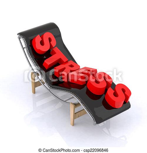 longue chaise, écrit, relâcher - csp22096846