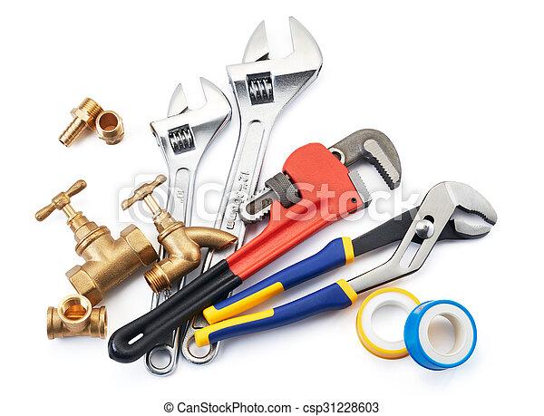loodgieterswerk, gereedschap - csp31228603