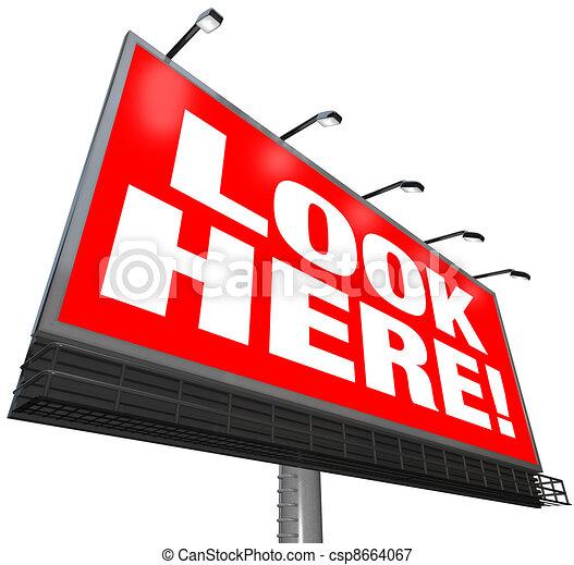 Look here billboard outdoor advertising marketing ...