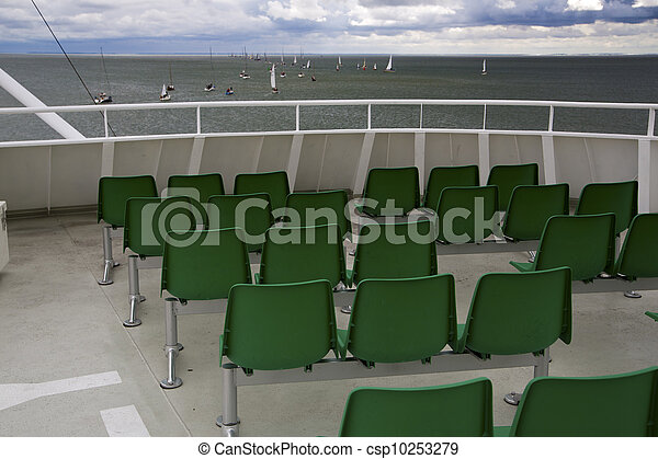 look over green seats on yachts - csp10253279