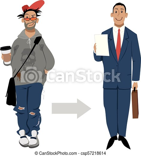 Look professional for your job interview - csp57218614