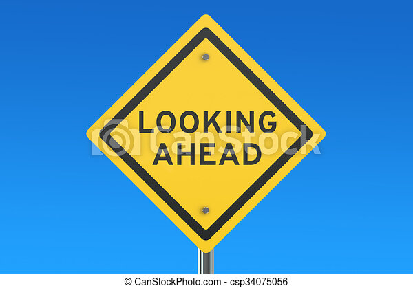 Looking ahead road sign isolated on blue sky looking ahead road sign csp34075056 thecheapjerseys Images