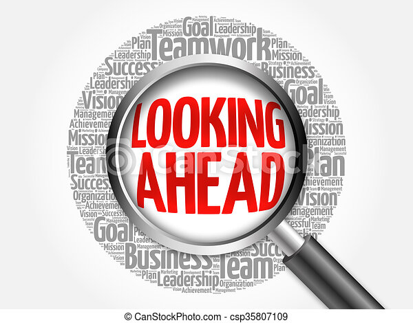 Looking ahead word cloud with magnifying glass business stock looking ahead word cloud csp35807109 thecheapjerseys Image collections