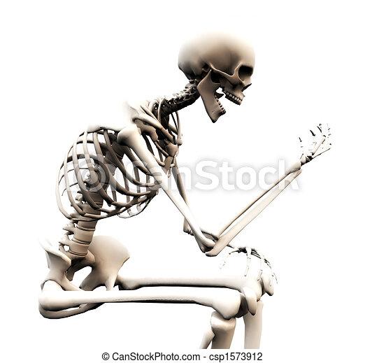 Looking At A Bone Hand - csp1573912