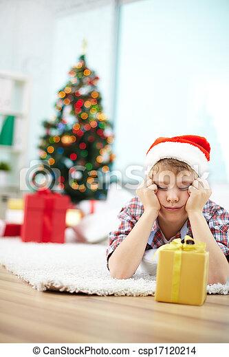 Looking at gift - csp17120214