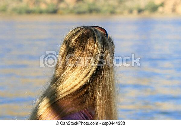 Looking at the Lake - csp0444338
