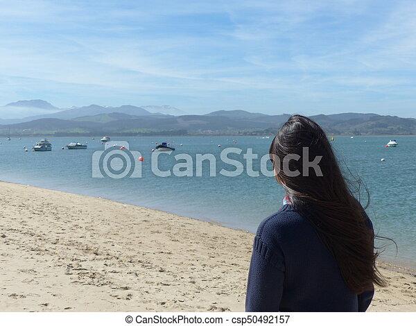 looking at the sea - csp50492157