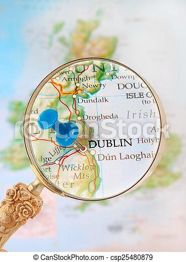 Looking in on Dublin, Ireland - csp25480879