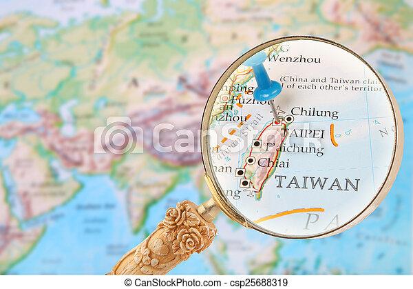 Looking in on Taipei, Taiwan - csp25688319
