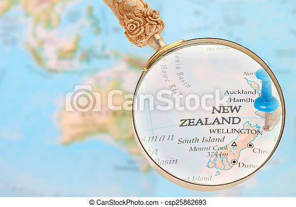 Looking in on Wellington, New Zealand - csp25862693