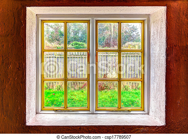 Looking out through a window - csp17789507