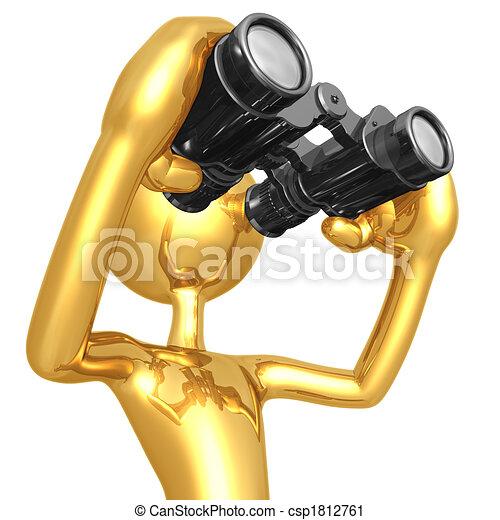 Looking Through Binoculars - csp1812761
