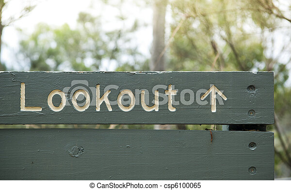 Lookout Sign - csp6100065