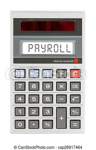 loonlijst, rekenmachine, -, oud - csp26917464