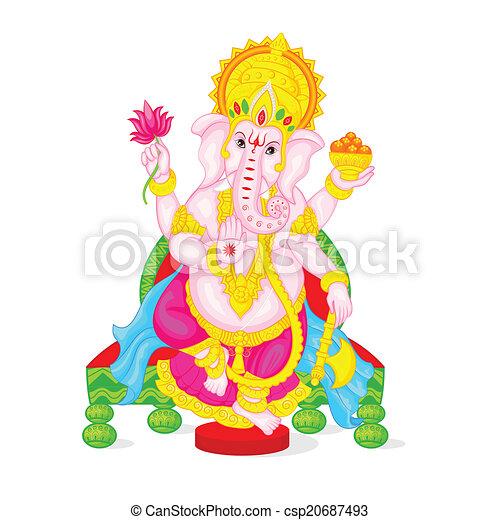 Lord Ganesha - csp20687493