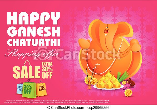 Lord Ganesha for Ganesh Chaturthi Sale offer - csp29965256