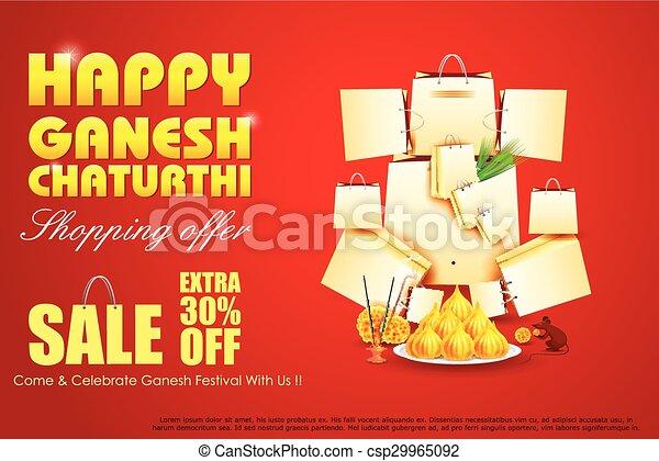 Lord Ganesha for Ganesh Chaturthi Sale offer - csp29965092